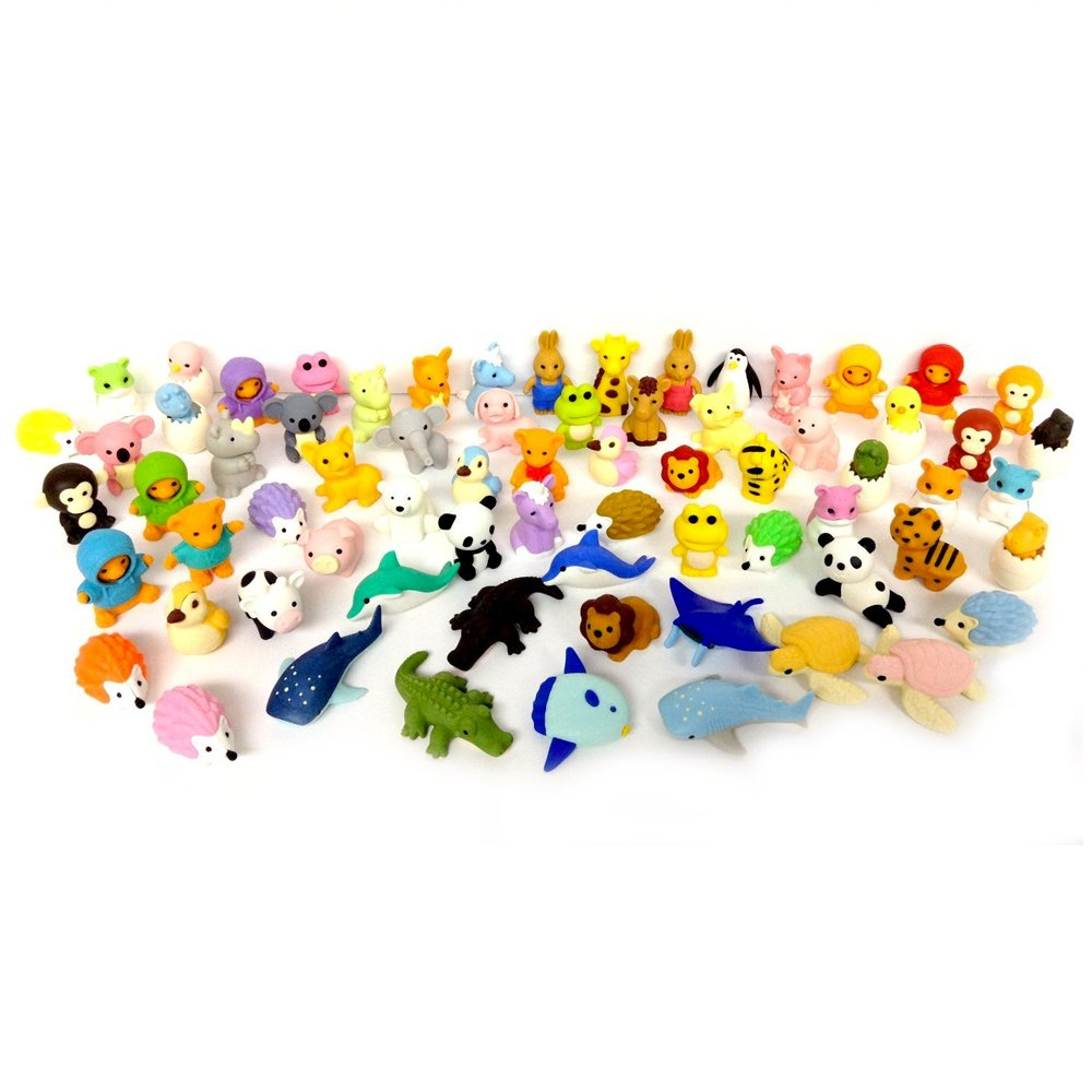MEGA VALUE 10 x Rare Assorted Official TY Beanie Puzzle Eraserz Iwako Japanese Collectable Eraser My Planet