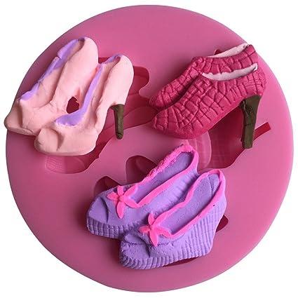 FLY diferentes tipos de diseño de zapatillas 3d fondant silicona pastel hornear