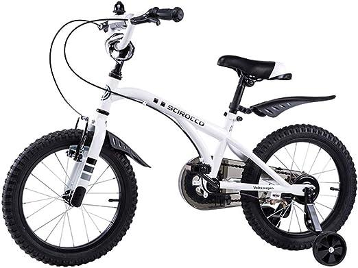 Bicicletas Bicicleta Bicicleta de montaña para niños Triciclo SGS Certificado Bicicleta de niño con Estructura de Acero Bicicleta de montaña para niños Seguros (Color : Blanco, Size : 16 Inches): Amazon.es: Hogar