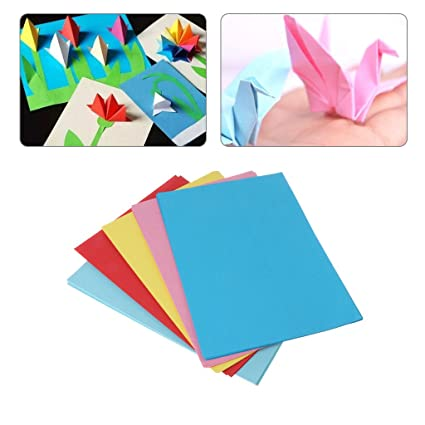 Amazon Com Shaoge 10 Sheets Origami Paper Multi Colour Large A4