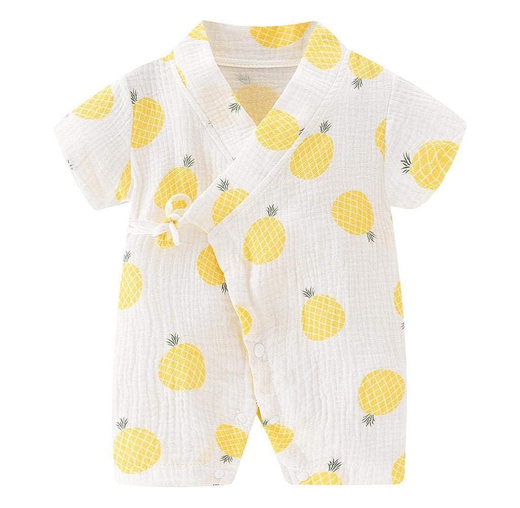 Jimmackey Neonata Bambine Stampa Pagliaccetto Manica Corta Tutina Tuta Abbigliamento