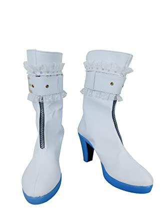 d32806f51f8 Amazon.com  YuanCos Fate Extra CCC Bride Saber Nero Emperor of Roses White  Cosplay Shoes Boots  Clothing