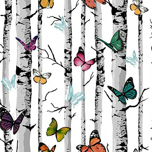 UPREDO Colorful Butterfly Contact Paper Adhesive Shelf Liner Funitures Dresser Drawer Cabinet Decor 17.7 Inch by 100 Inch
