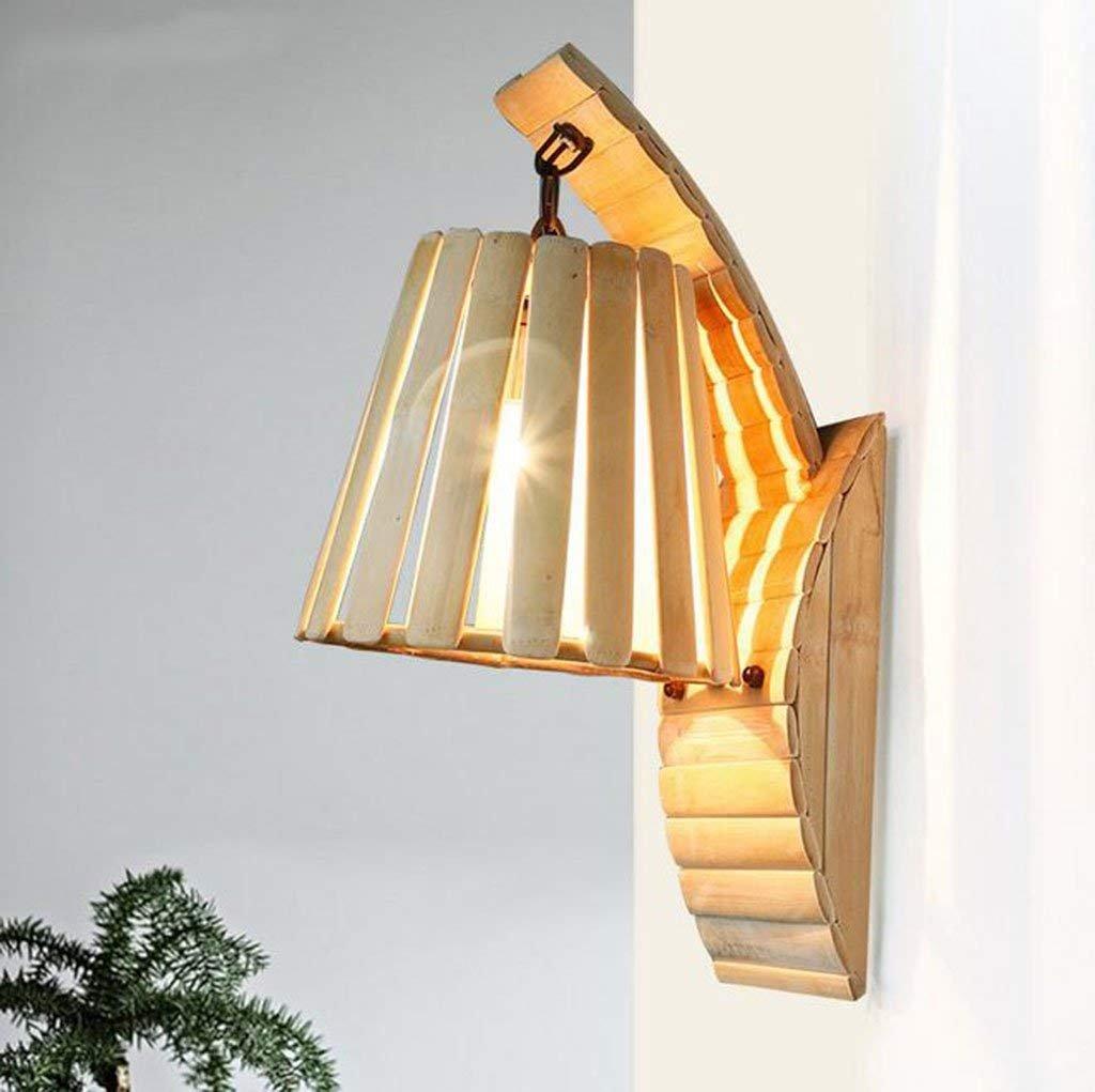 Lampada da parete in bambù, balcone Corridoio da ingresso Lampada da parete Corridoio Scale Cafe Rural Fácil de limpiar