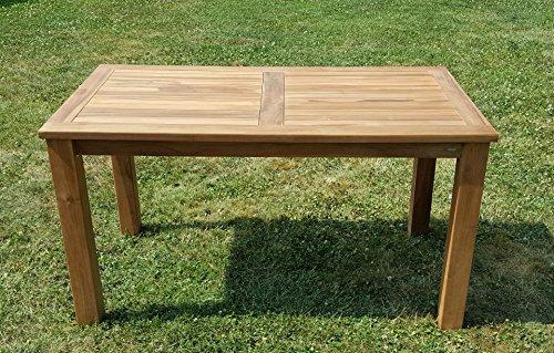 Teakholz tisch garten  Amazon.de: Wuchtiger TEAK BIGFOOT Gartentisch 140x80 Holztisch ...