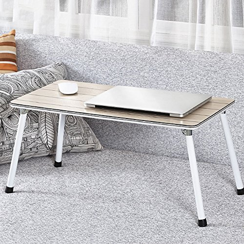 Price comparison product image Foldable Laptop Table, Bedside Table Laptop, Child Breakfast Tray, Portable Bar Table, Outdoor Table For Camping & Picnic, Notebook Stand Sofa Table ,Study DeskPortable Folding ( Color : C-603029 )