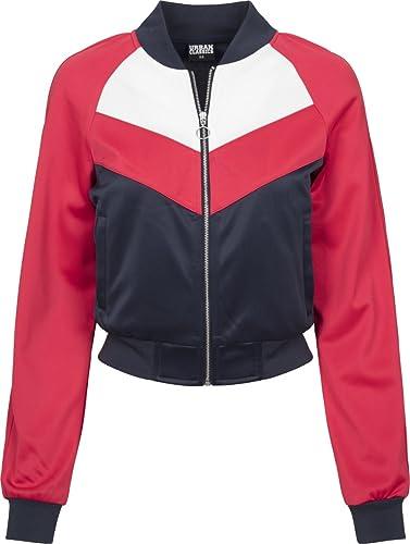 Urban Classics Ladies Short Raglan Track Jacket, Chaqueta Deportiva para Mujer