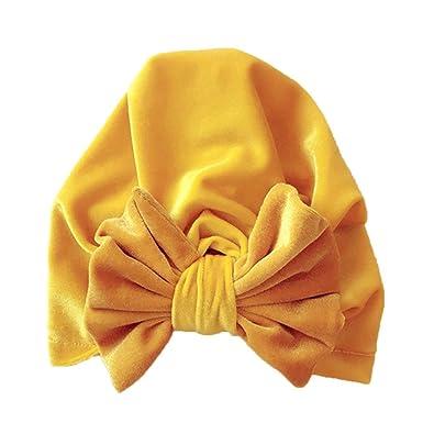 Bonnet Bébé, Enfant Jeune Fille Garçon Enfant Velours Arc Noeud Turban  Beanie Tête Porter Chapeau e7956a2843a