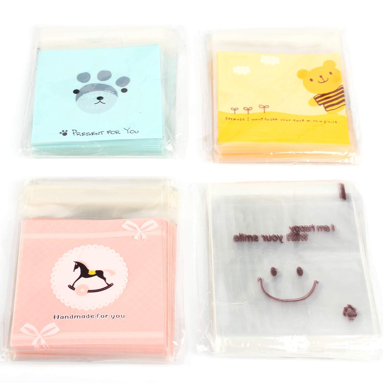 Amazon.com: Besokuse - Bolsas autoadhesivas para dulces ...