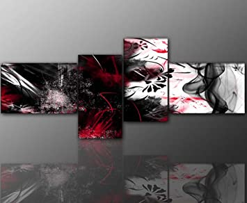 Amazon.de: 4 teiliges Wandbild (abstrakt_grunge_4teilig-55x155cm ...
