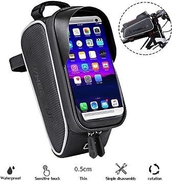 Soporte de teléfono para Bicicleta, Resistente al Agua, Antideslizante, para Smartphone, Android, Smartphone, Bicicleta de montaña, Moto, Scooters: Amazon.es: Electrónica