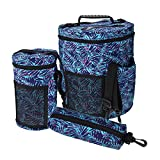Whitelotous 3pcs/Set Knitting Storage Barrel Bag Totes Easy to Carry Crochet Hook Yarn Sewing Pouch High Capacity Home Organizer