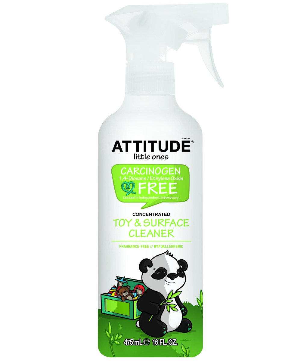 Natural Baby Toy Cleaner & Surface Cleaner: 100% Baby-Safe, Fragrance-Free and Hypoallergenic - No Rinse Required (16 oz)