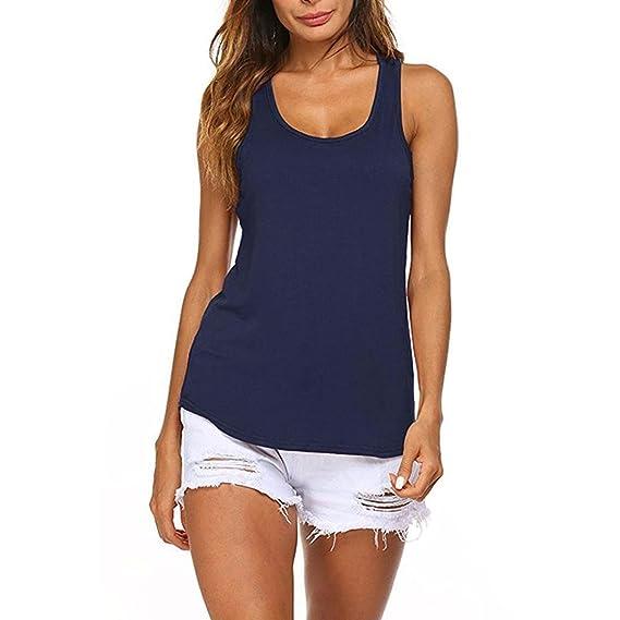 QinMM Camiseta Deportiva para Mujer, Camisas Blusa sin Mangas Yoga Running Ejercicio Fitness t-