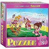 Eurographics Go Girls Go-Soccer Stars 100-Piece Puzzle