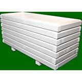 Massive fioriera 120x 50x 48cm in legno 60X 60mm velato con laccatura per legno bianco