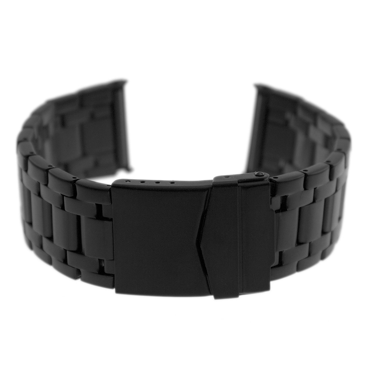 Black Steel Bracelet Band for Evo Seal 23mm Luminox Watches by Watch Experts