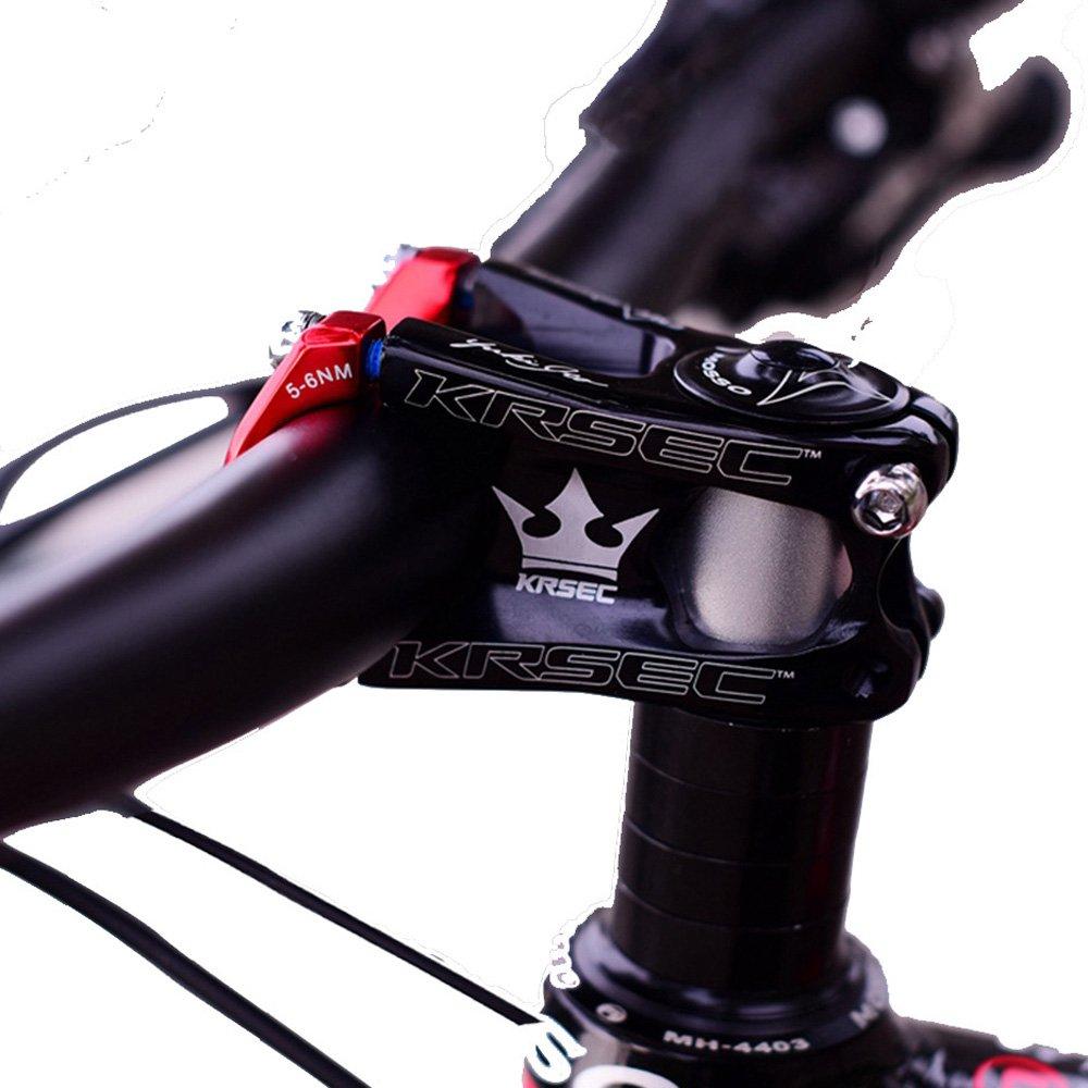 krsctバイク31.8ステム50 mmバイクステムサイクリングマウンテンバイクステムアルミショートハンドルバーステムライザー超軽量MTB BMX DH FRほとんどの自転車、ロードバイク、マウンテンバイク、サイクリングハンドルバーアクセサリー B07931SQGF ブラック&レッド ブラック&レッド