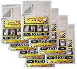 CoverGrip 351208-C 8 Oz Canvas SAFETY Drop Cloth, 3.5' x 12', (Pack Of 8),