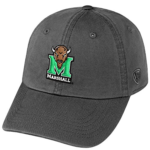 Top of the World NCAA Marshall Thundering Herd Men's Adjustable Relaxed Fit Charcoal Icon Hat, Charcoal -