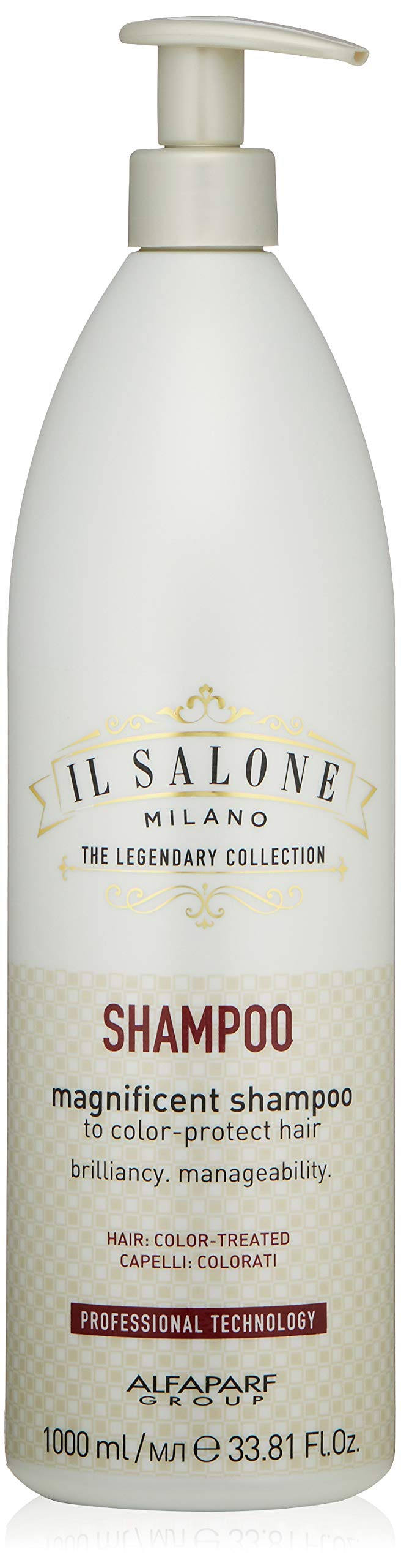 Il Salone Milano Professional Magnificent Shampoo for Color Treated Hair - Protects and Prolongs Color - Premium Quality - 33.81 Fl. Oz. / 1000ml