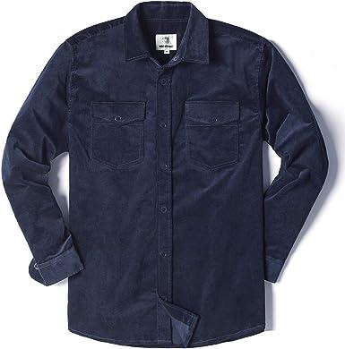 Fur Lined Mens Warm Solid Fashion Blouse Casual Long Sleeve Corduroy Shirt Shirt