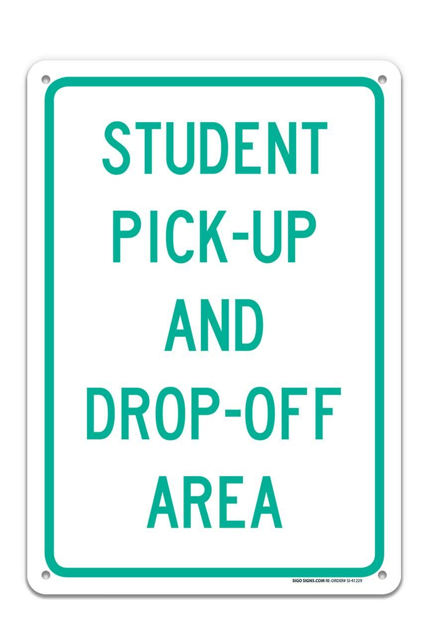 Amazon Com Student Pick Up Drop Off Area Sign Large 10 X