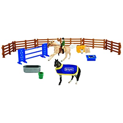 Breyer Stablemates English Horse Play Set | 10 Piece Play Set | 1:32 Scale | Model #6027: Toys & Games