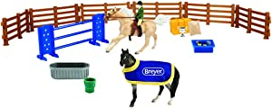 Breyer Stablemates English Horse Play Set | 10 Piece Play Set | 1:32 Scale | Model #6027
