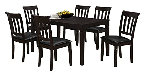 Salamanca 36-Inch x 60-Inch Rectangular Dining Table, Dark Brown