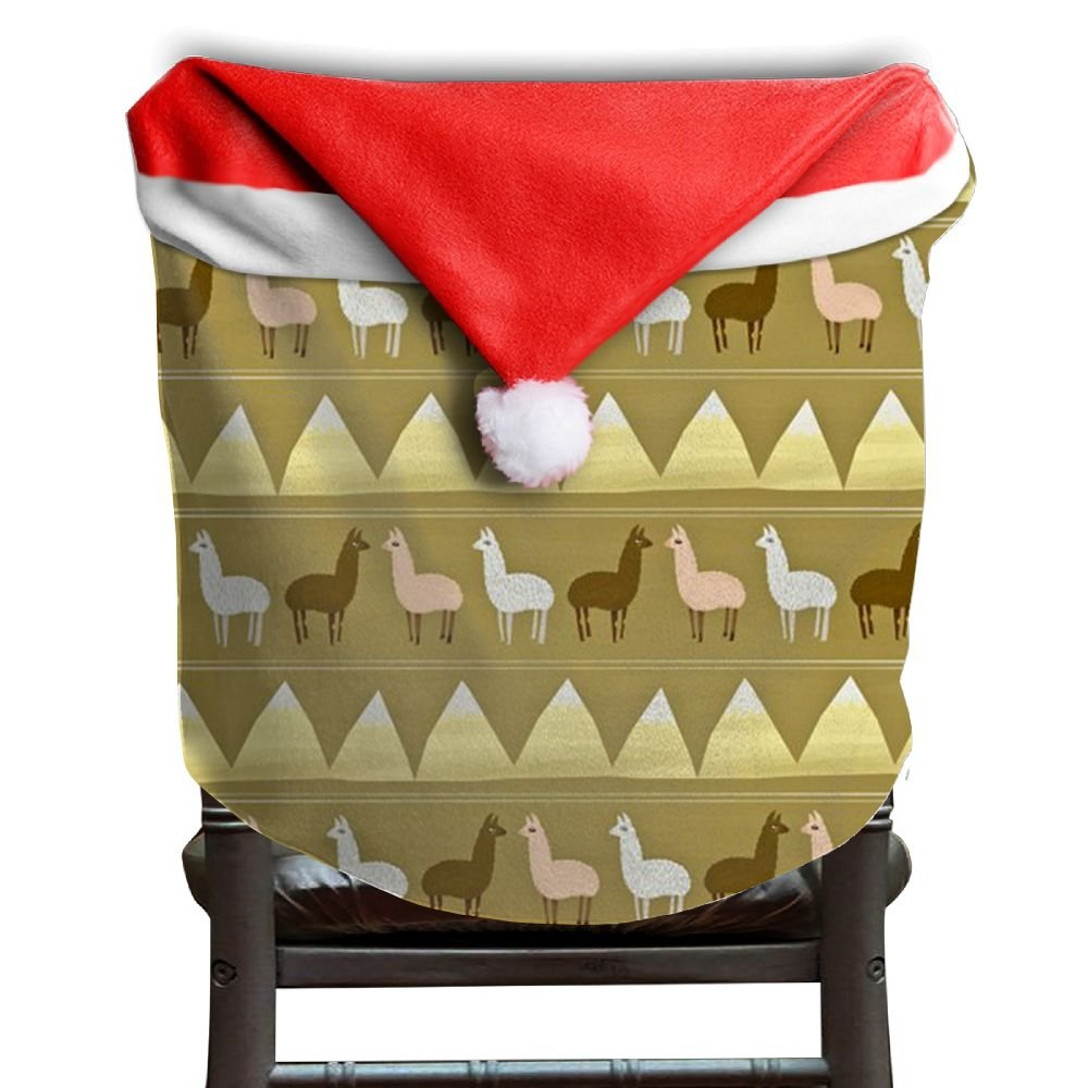 Llama Animal Christmas Chair Covers Great DURABLE Chair Covers For Christmas For Adult Christmas Chair Back Covers Holiday Festive