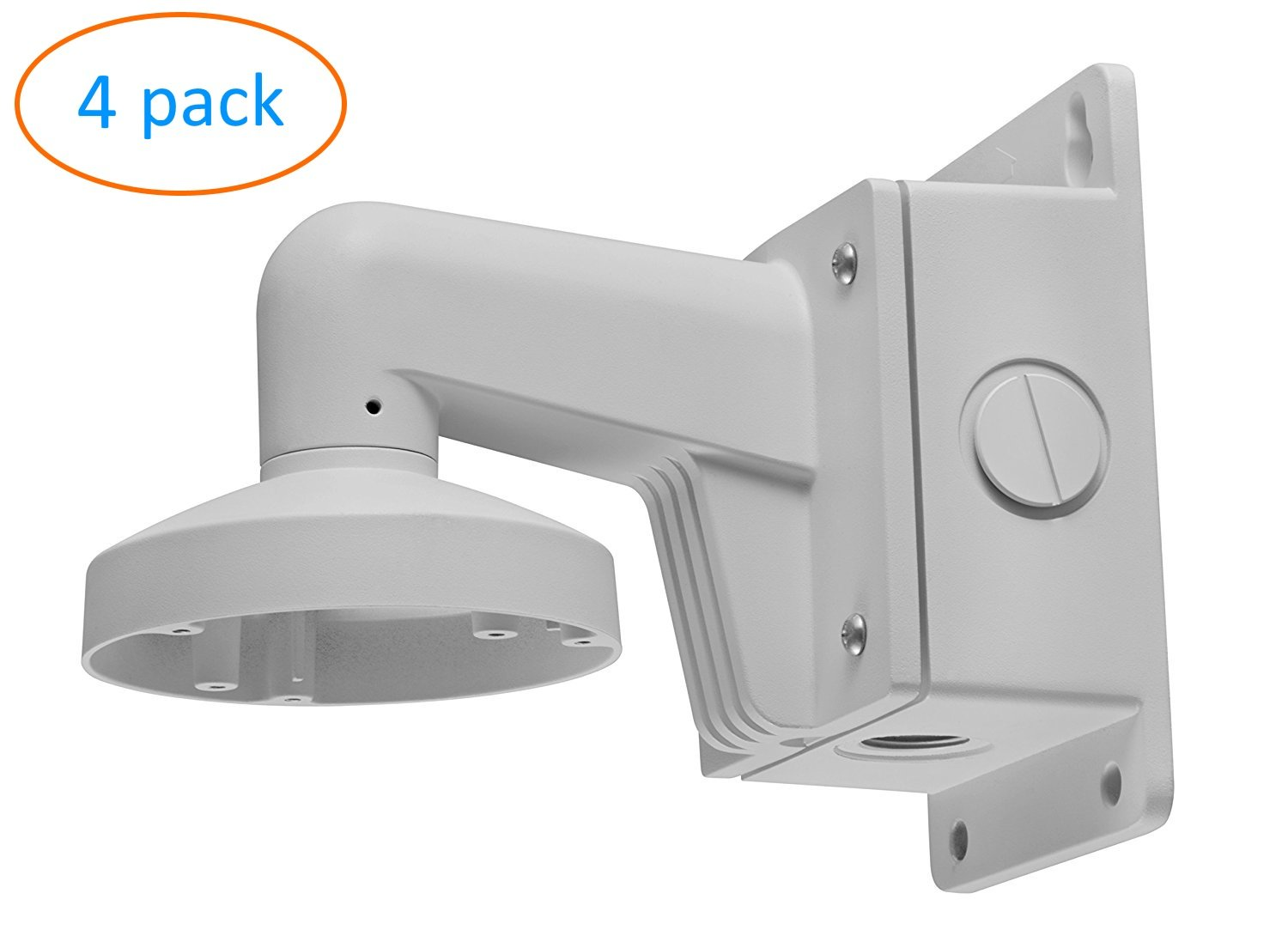 WMS WML PC110B DS-1272ZJ-110B Wall Mount Bracket for Hikvision Dome Camera DS-2CD2142FWD-I (4 Pack) by KENUCO