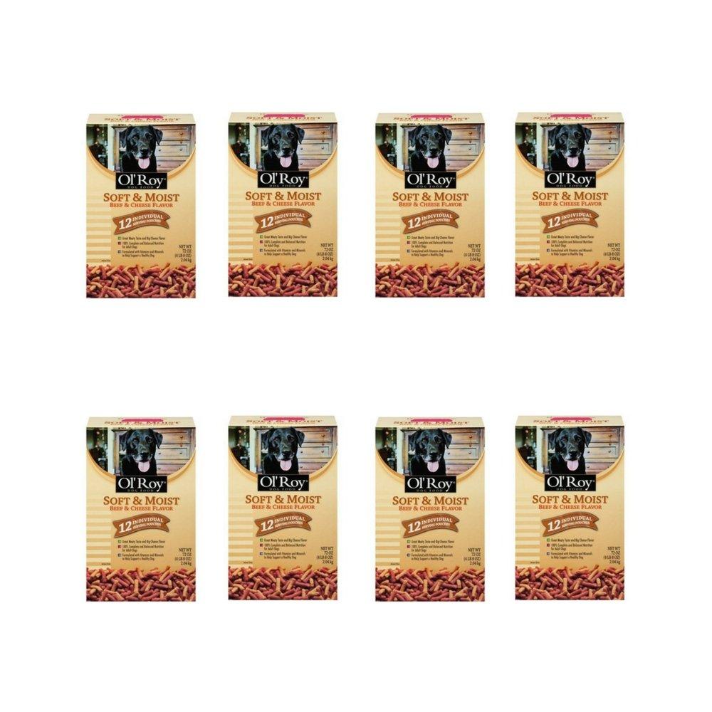 Ol' Roy Soft & Moist Beef & Cheese Flavor Dog Food 72 oz. Box, (8 pack)