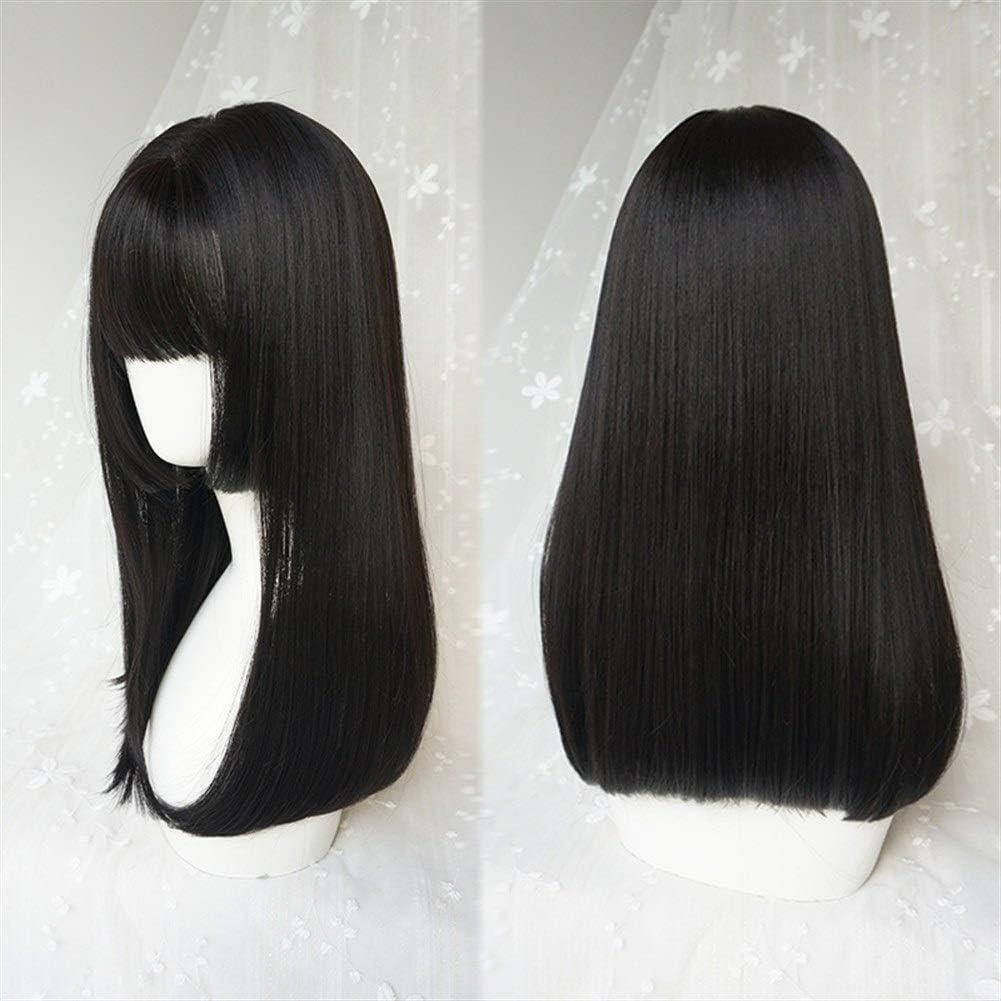 Peluca Medio Femenino largo de la hebilla del pelo recto de la ...