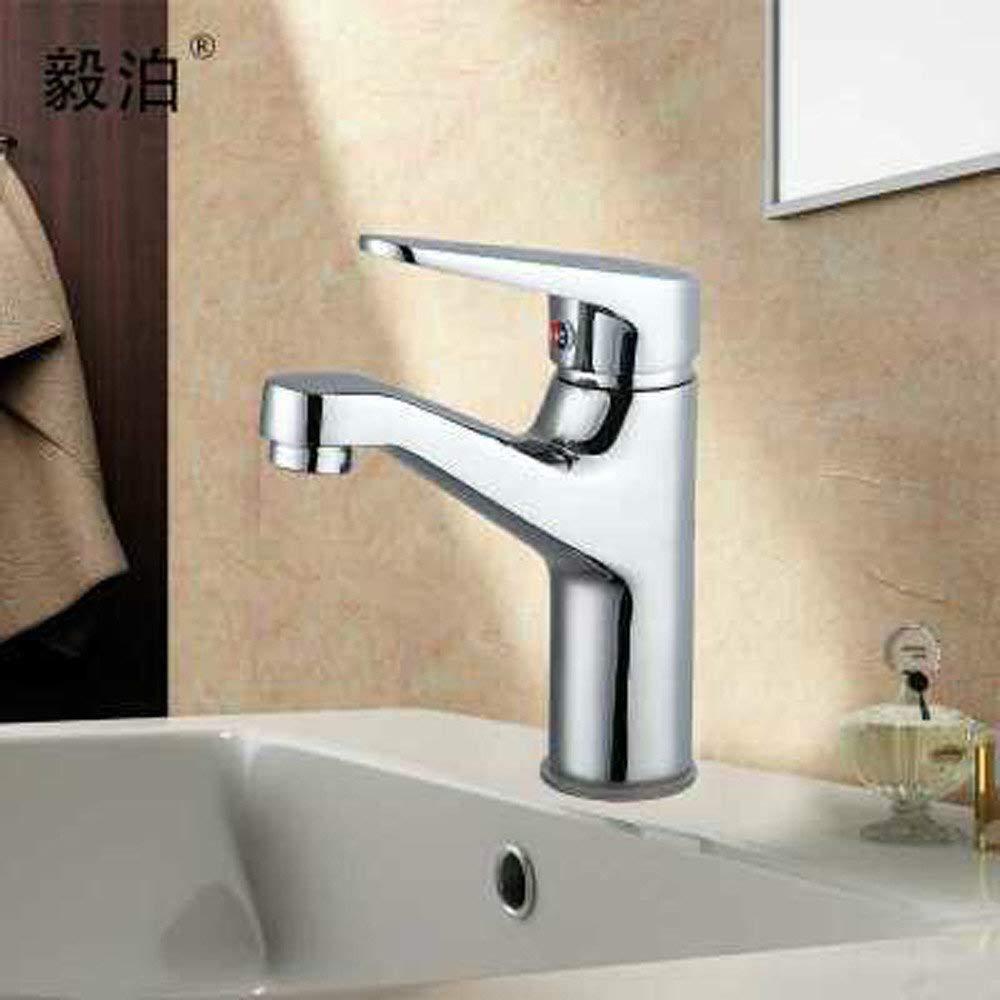 Oudan Basin Mixer Tap Bathroom Sink Faucet The copper basin Flat Nose single hole hot and cold basin tap faucet tongue.