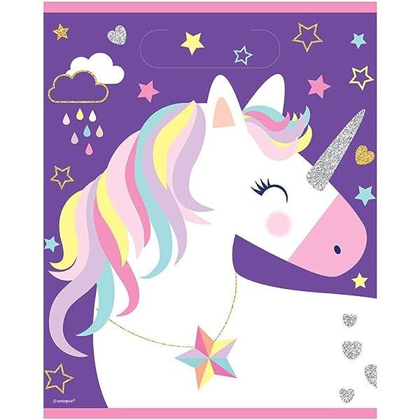 6 x Party Unicorn Bubble Tubes 11cm