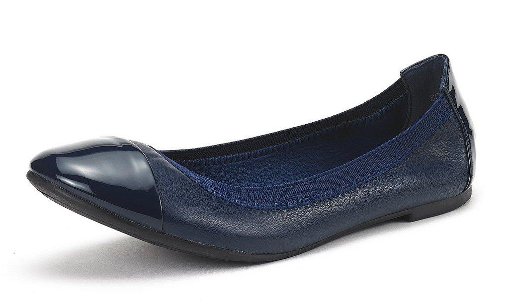 DREAM PAIRS Women's Sole-Flex Navy Ballerina Walking Flats Shoes - 9.5 M US