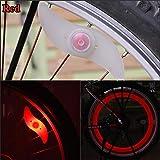 E-PRANCE Hot sale Double faced bicycle spoke light wind fire wheels silica gel spoke light steel wire lamp mountain bike wheel light,red
