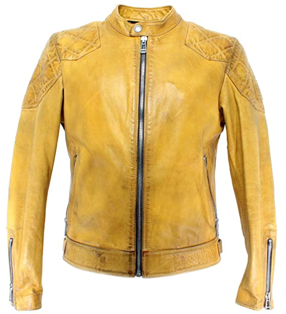 new concept 2acef 0ca12 Belstaff 71020740 Outlaw Yellow Giacca Uomo Beckham Pelle ...