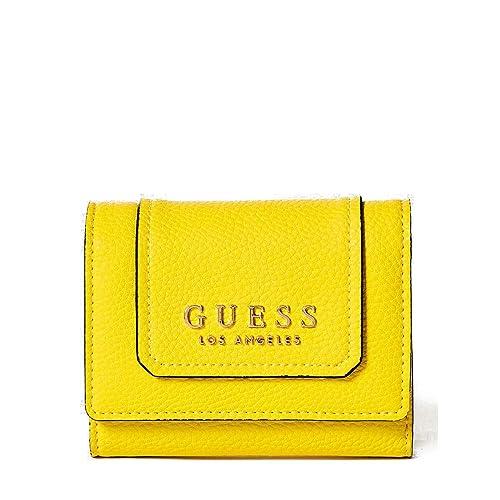 Guess - Cartera para mujer de poliuretano Mujer Amarillo amarillo talla única: Amazon.es: Zapatos y complementos