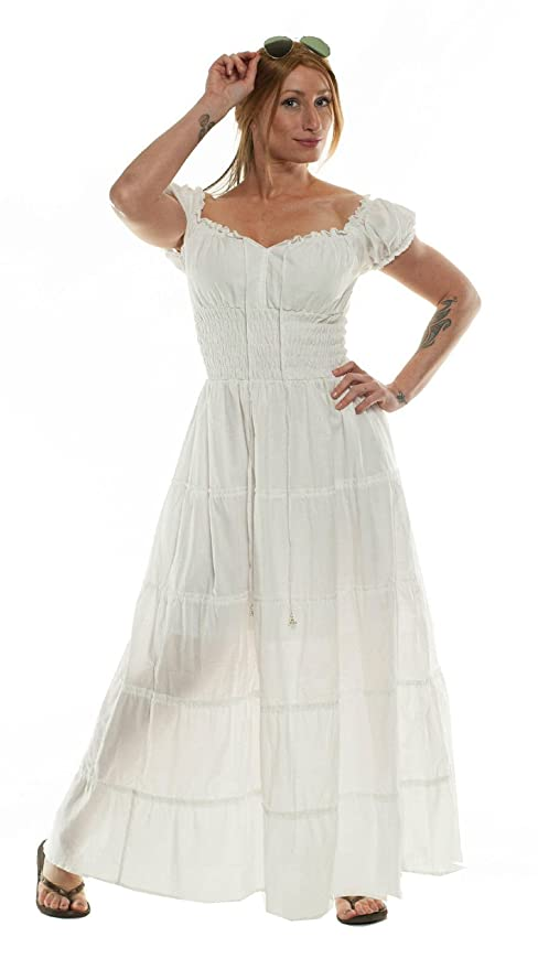 Amazon.com: Ships Out Same Day - Cotton Renaissance Dress Medieval ...
