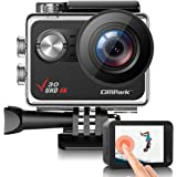 Campark V30 Native 4K Action Camera 20MP EIS Touch Screen WiFi Waterproof PC Webcam with Optional View Angle, 2 1350mAh Batte