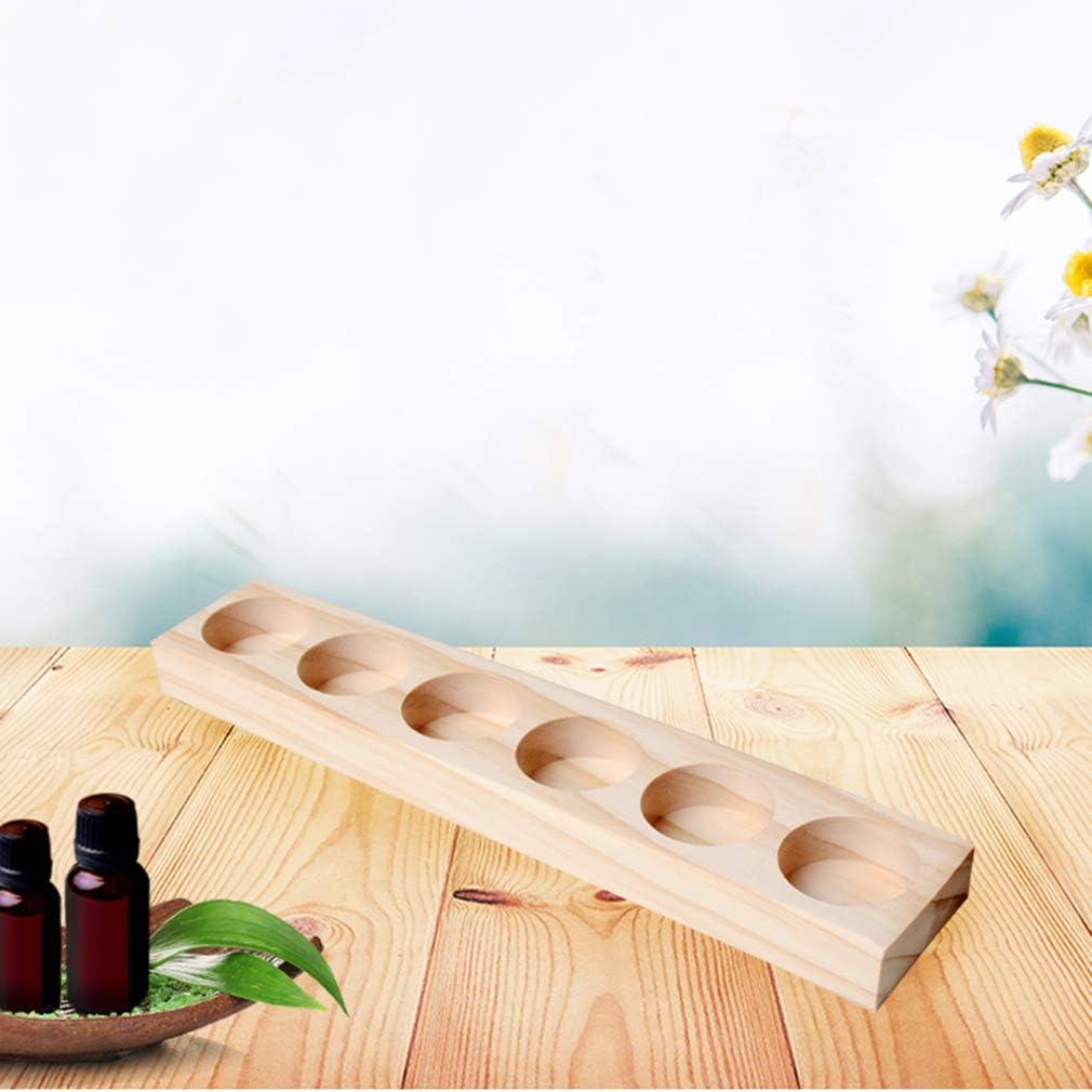 2 Pezzi 11 Slots Organizzatore per Oli Essenziali - Scatola Mensola in legno per Oil Aromaterapia e Profumati - Ideale Cremagliera Contenitore Regalo per Viaggio, Stoccaggio e Visualizzazione 18 Slot