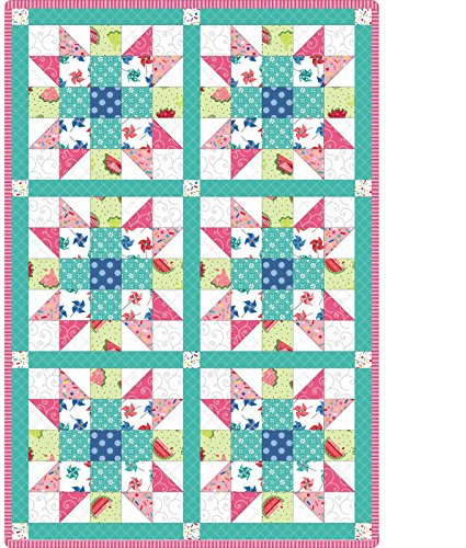 - Sprinkle Sunshine Sister's Choice Pre-Cut 6 Block Quilt Kit by Maywood Studio