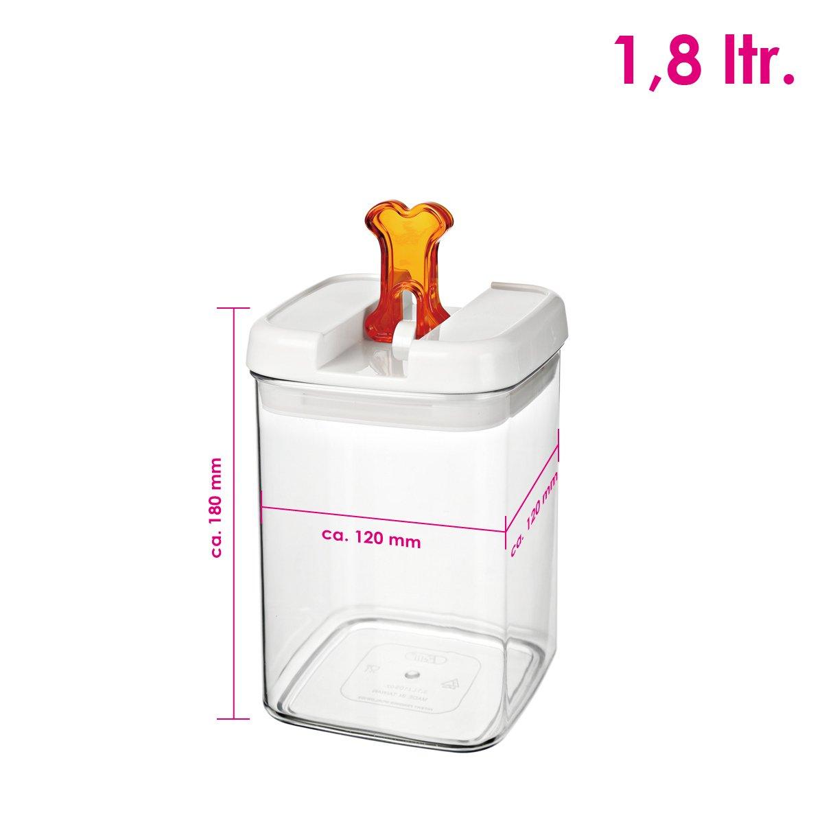 bremermann® Dispensador de pienso con tapa para olores y decoración de hueso (1,8 litros, naranja, disponible en más tamaños): Amazon.es: Hogar