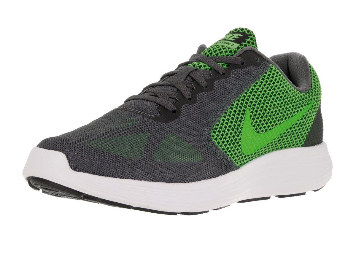 2b9cf00b638 Galleon - Nike Men s Revolution 3 Running Shoe Dark Grey Electric Green  Black White 11 D(M) US
