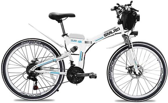 Suyanouz 21 Adultos Velocidad De Bicicleta EléCtrica Plegable ...