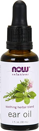 NOW Solutions, Ear Oil, Soothing Herbal Blend, Great on Mild Discomfort or Irritation, 1-Ounce