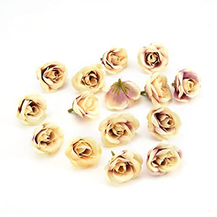 Amazon Com 30pcs 4cm Silk Rose Artificial Flower Wedding Home