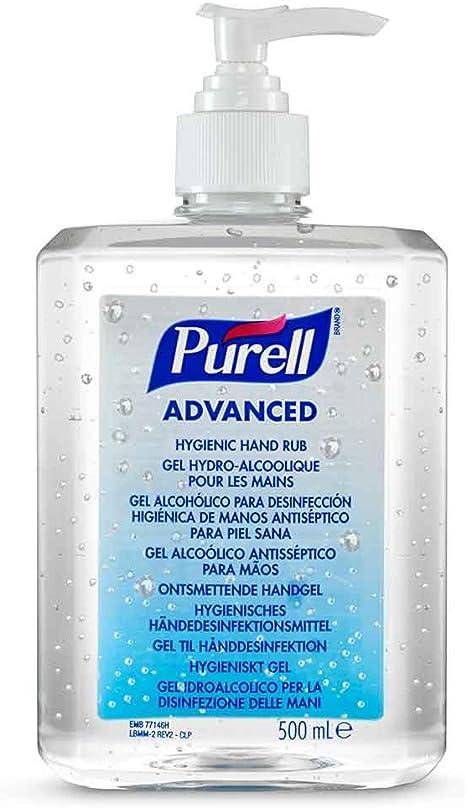 Purell Advanced Hygienic Hand Rub Pump Bottle 500 Ml Amazon Co